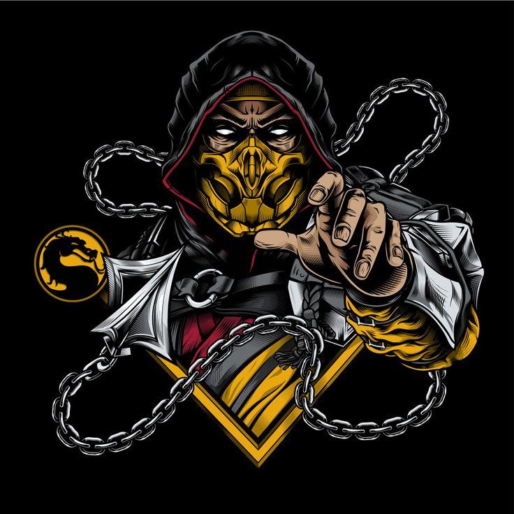 thegamefreaks Mortal Kombat Scorpion Art by Daniele
