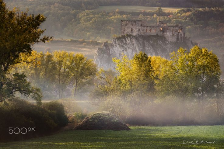 "Autumn morning at Beckov castle - Autumn misty morning at Beckov castle at Slovakia - my favorites castle....  Follow me on <a href=""https://www.facebook.com/lubosbalazovic.sk"">FACEBOOK</a> or <a href=""https://www.instagram.com/balazovic.lubos"">INSTAGRAM</a>"