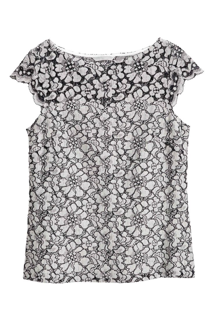 Top in pizzo - Bianco naturale - DONNA | H&M IT