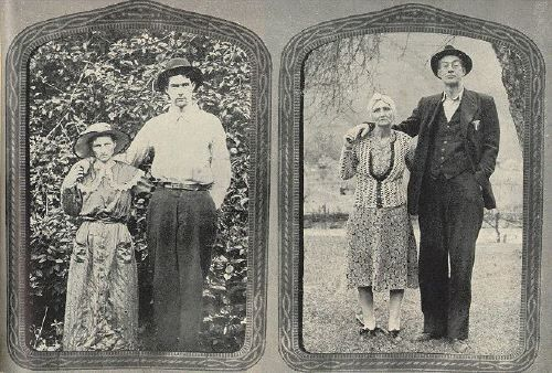 Bud and Rhoda McCoy posed for the picture at left on the day they were married, Sept. 17, 1907. When Photographer Sanders visited them this spring they went outside and struck the same pose for the picture at right. Bud is the grandson of Harmon McCoy, killed in the Civil War, and a son of Lark McCoy, who played a leading part in the duel (see p. 108). He was too young to kill Hatfields during the family war and has no ill will toward them now. He works in a near-by coal mine and likes to…