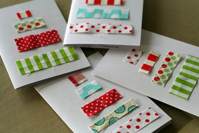 fabric christmas cardsSaído Da, Christmas Cards, Crafts Ideas, Christmas Crafts, Da Conchas, Creative Ideas, Gift Ideas, Cartões De, Gift Wrappingcard