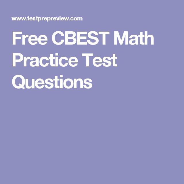 Free CBEST Math Practice Test Questions
