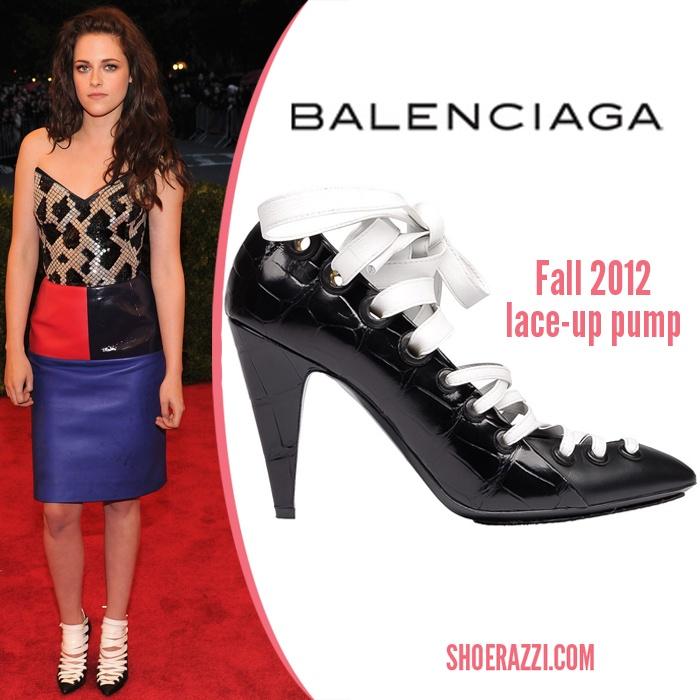 Kristen Stewart in Balenciaga   Celebrity shoes, Christian