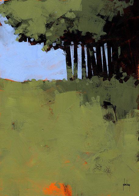 Hiding place - Paul Bailey. Love his orange underpainting.