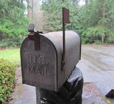 Vintage US Mailbox Galvanized Steel Farm Ranch Rustic Industrial Metal Rural