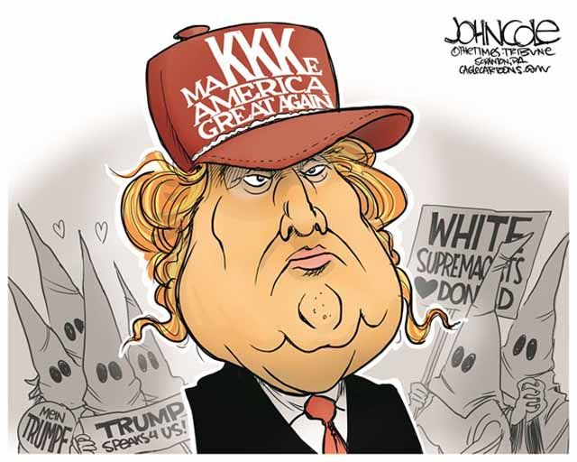 A weekly roundup of funny and provocative cartoons by the nation's top cartoonists.: Trump: MaKKKe America Great Again