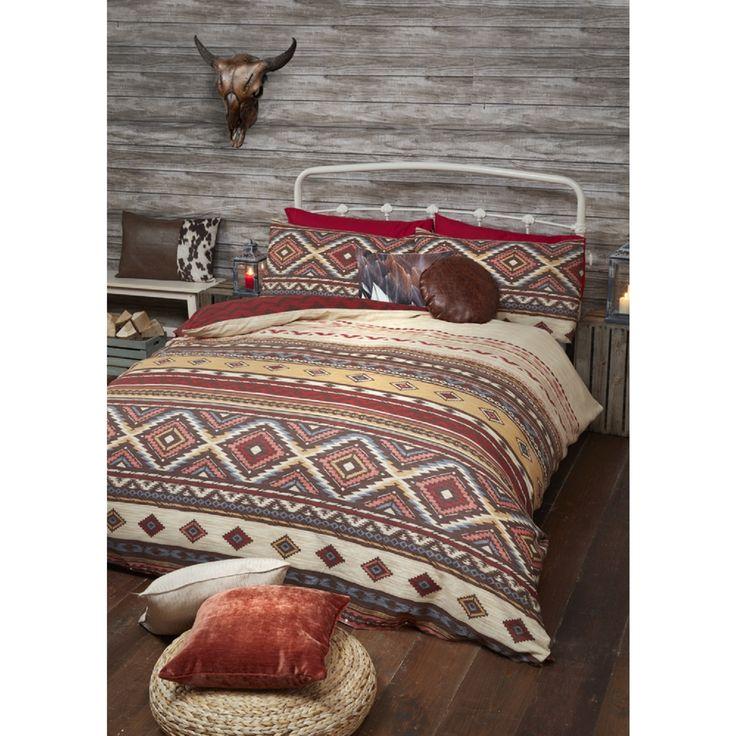 Western Multicoloured Duvet Cover and Pillowcase Set