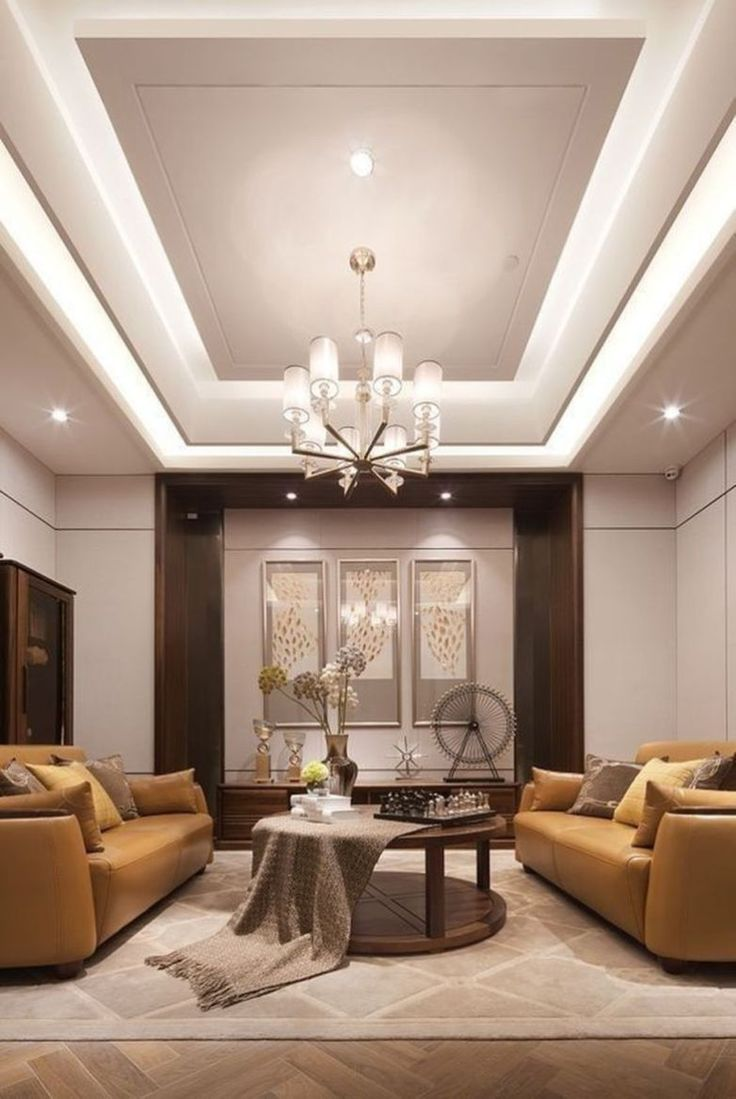False Ceilings Design With Cove Lighting For Living Room ...