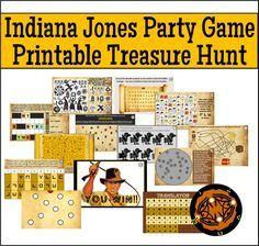 Printable Indiana Jones Treasure Hunt Party Game!