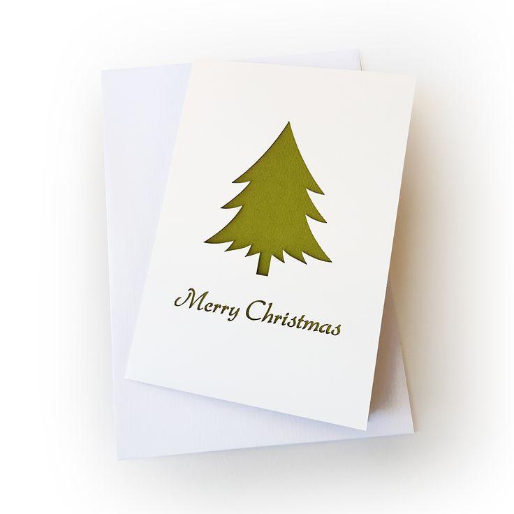 Christmas pine tree greeting card