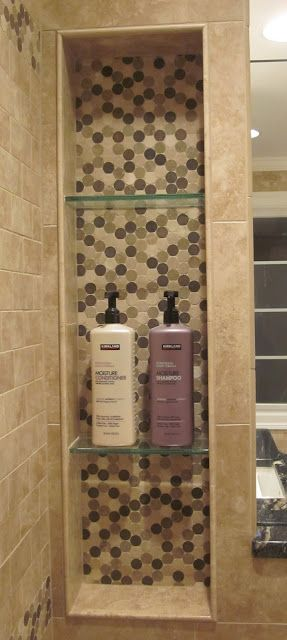 Love the idea of a large niche storage in the shower.