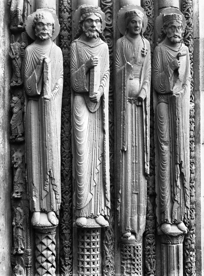door jamb statues west facade chartres cathedral c 1145 70 cathedral architecture. Black Bedroom Furniture Sets. Home Design Ideas
