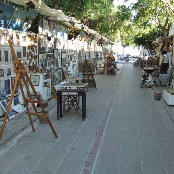 Art street in Bodrum, Turkey. see more property selections here http://www.turkish-property-world.coom/antalya_property.php