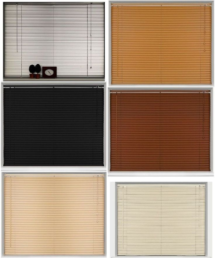 New Pvc Blinds Window Venetian Easy Fit Home Office Blind Wood Effect All  Sizes #Blinds