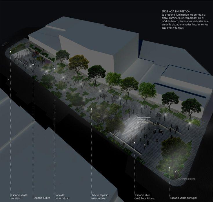 Galería de Primer lugar en concurso de remodelación de Plaza Portugal en Montevideo - 3