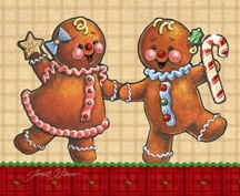 """""""Gingerbread Twins"""""""