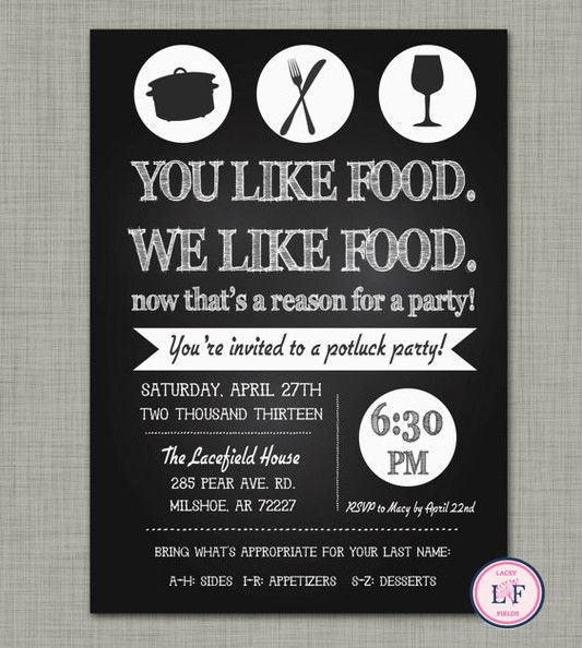 14 best Invitations images on Pinterest Potluck ideas Cards and