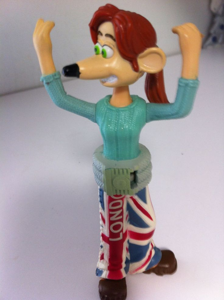 "MCDONALDS TOY 2006 ""FLUSHED AWAY"" GIRLY MOUSE WITH LONDON PANTS  