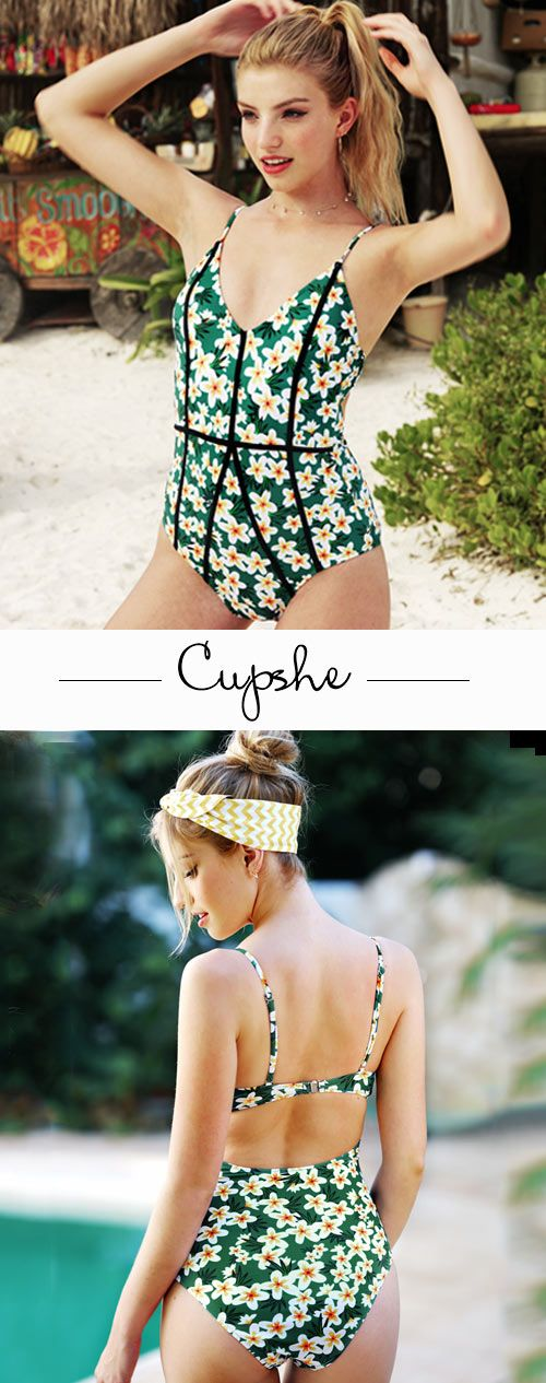 Go to the beach in a Cupshe swimsuit! Celebrate the season with Cupshe Young And Vigor Print One-piece Swimsuit, one of the beat selling items, adorable & affordable, and perfect for a relaxed vacation. You are bound to look fabulous!