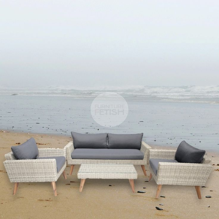 Euro Italia El Kona Lounge Set This gorgeous 4 Piece Lounge is a contemporary yet bold design which allows indoor interior design to come alive in the outdoors.