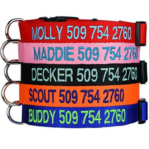 Custom Embroidered Dog Collars - Personalized ID Collars ... http://www.amazon.com/dp/B0075RW2KC/ref=cm_sw_r_pi_dp_mrArxb1NS8SS8