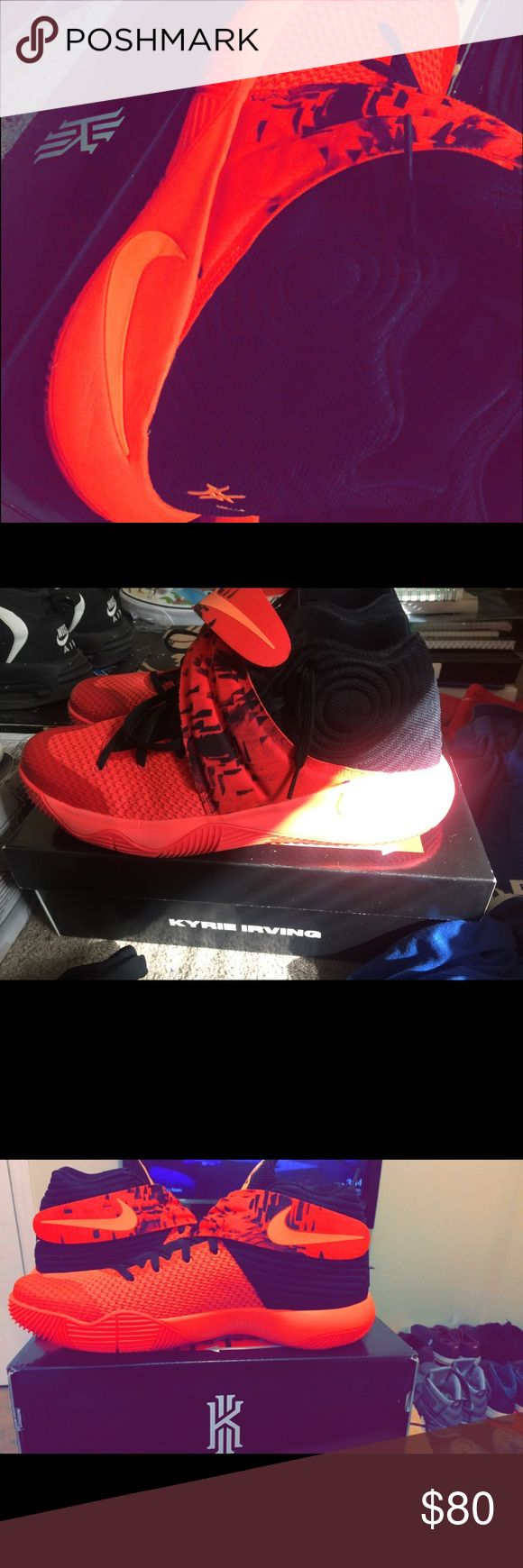 """Nike Kyrie 2 """"Inferno"""" Purchased recently but were a half size too small selling for 40% Off (Original Price: $120) Nike Shoes Sneakers"""