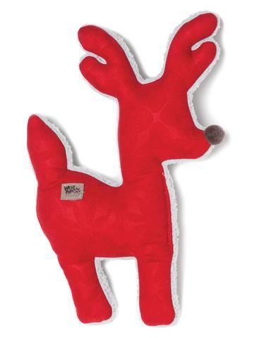 Toys - West Paw Design Big Sky Reindeer - Crimson Ice