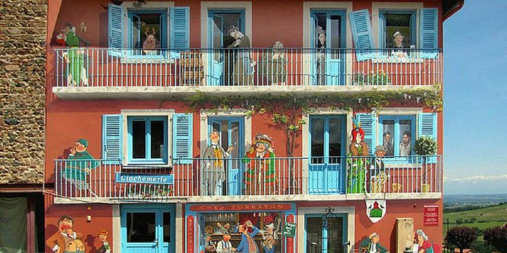Francia, tristi mura di città trasformate in scene piene di vita