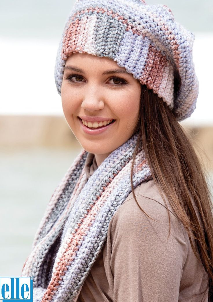 Beanies and Scarves  Brand: Elle Yarn: Mischief Size From: Toddler Size To: Adult