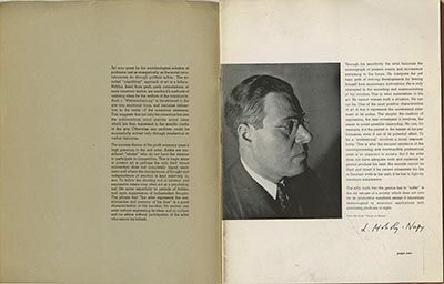 Modernism101.com | Moholy-Nagy, László: PAINTINGS, SCULPTURES, PHOTOGRAMS AND PHOTOGRAPHS BY L. MOHOLY-NAGY, INSTITUTE OF DESIGN, CHICAGO. [Chicago: Institute of Design, 1946].