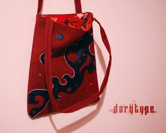red starrynight bag by Dargtype on Etsy