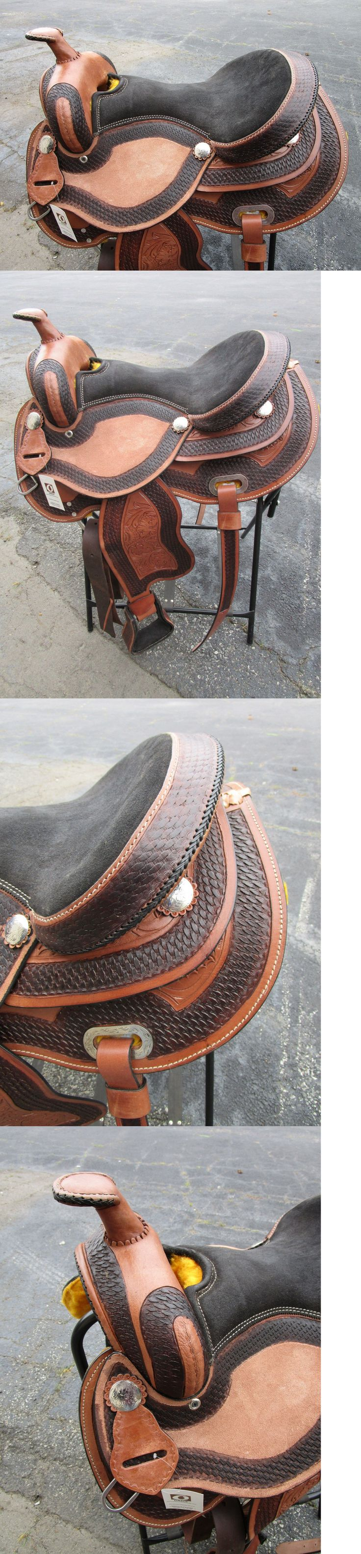 Saddles 47291: Gaited 15 16 Barrel Racing Show Pleasure Trail Leather Western Horse Saddle Tack -> BUY IT NOW ONLY: $278.99 on eBay!
