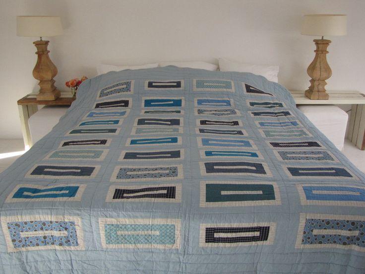 Handgemaakte quilt nummer 8 250 cm 280 cm - € 225,00 | VIA CANNELLA WOONWINKEL | CUIJK
