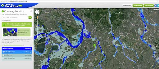 Check My Flood Risk Map. For UK.
