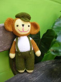 Crochet monkey patterns. Free!