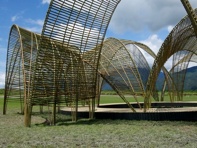 A bamboo pavilion in Taiwan's scenic Hualien province is raising awareness, aiding the environment and supporting indigenous peoples simultaneously.