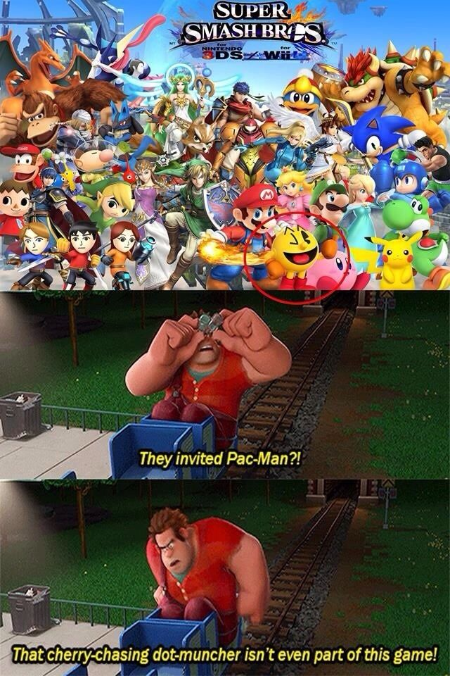 Wreck it Ralph pissed about Super Smash Bros