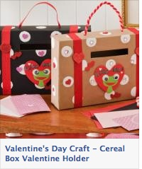 Cereal box craft: Valentine Box, Valentine Holder, Cereal Boxes, Valentine Mailbox, Valentine S, Kid