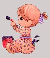 Resultado de imagen para ninos pintando animados