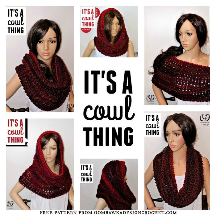 This can be worn in SO many ways! It's a Cowl Thing! Works as a Poncho, a Wrap, a Hooded Cowl, a Cowl...so many options! Make one today!