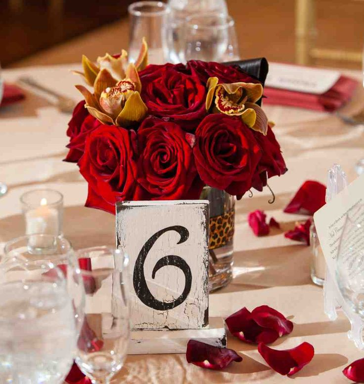 table number ideas wedding reception