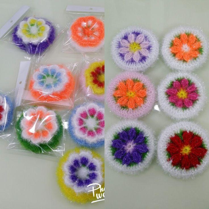 코스모스꽃수세미와 다알리아수세미