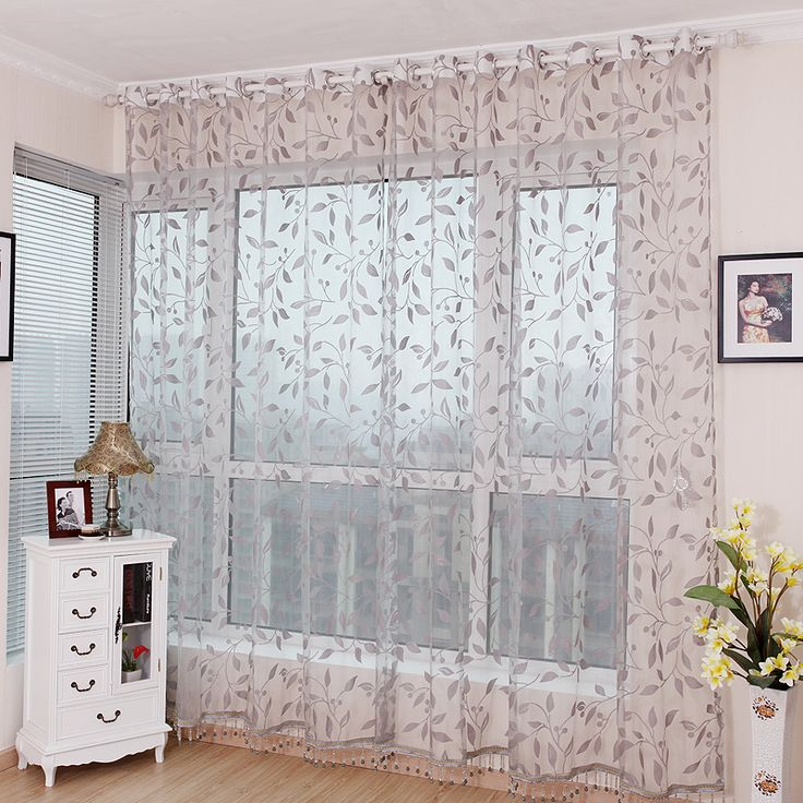 sheer curtains with leaf pattern curtain quality finished products balcony sheer curtains