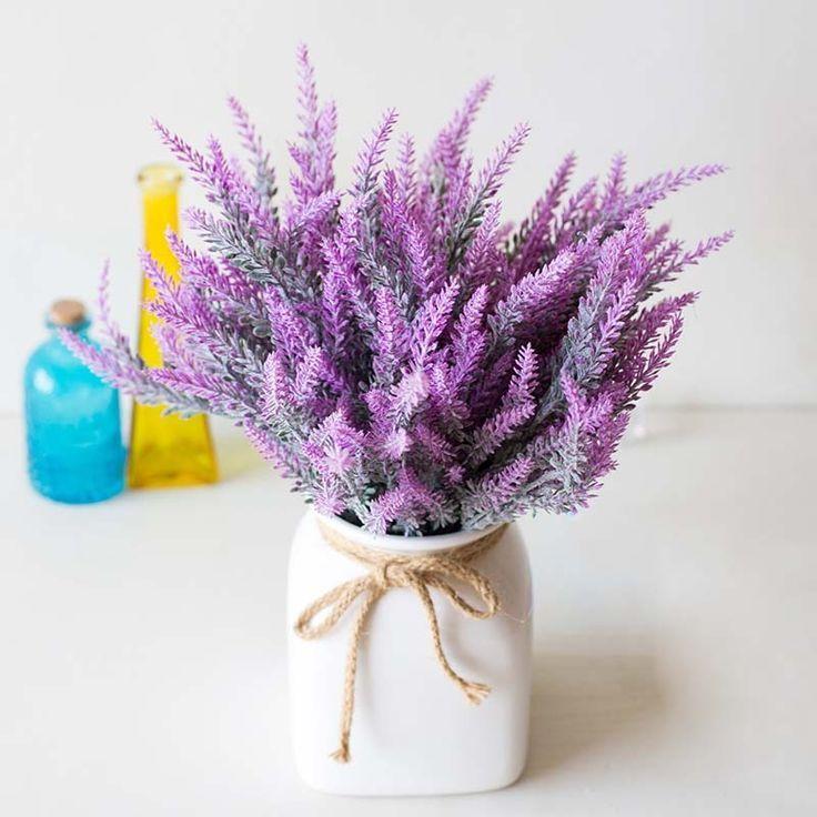 Simulated Lavender Artificial Flower Pot Arrangement For Home Garden Decor Best Arrang Flower Pots Artificial Flowers Dried Flowers