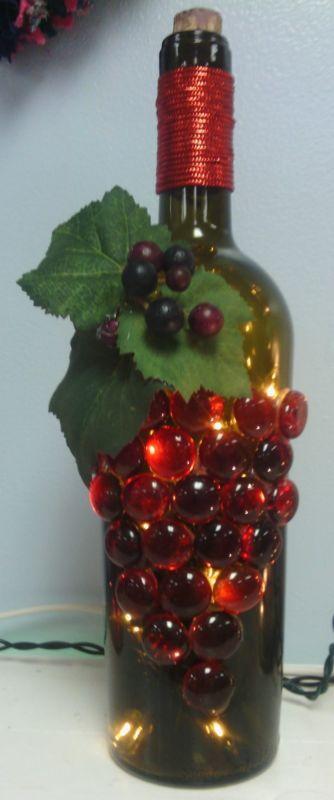 231 best Wine Bottle Lights images on Pinterest