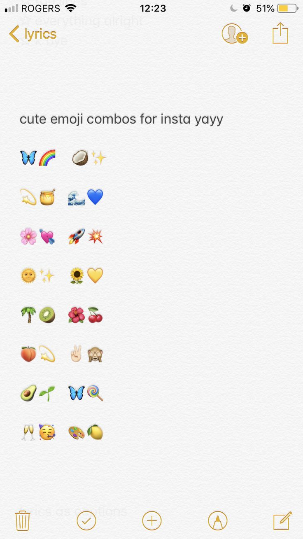 instagram captions // cute emoji combos // quotes // insta ...