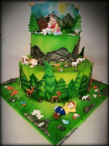 #Heidi #Heidi_cake #Heidi_Torte #airbrush