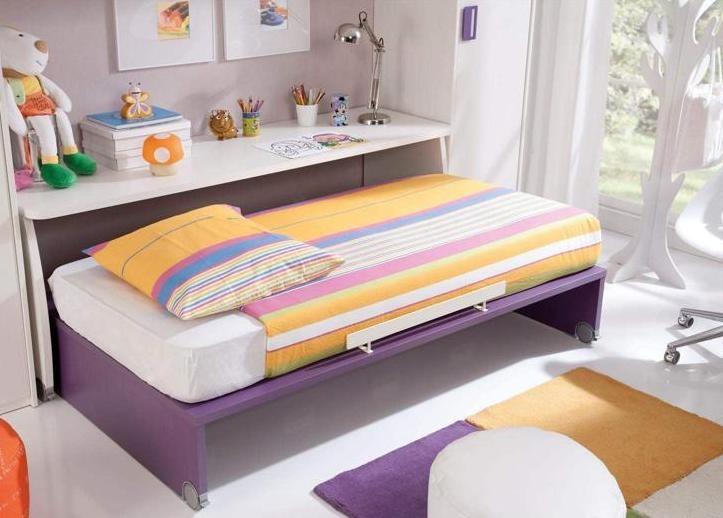 Habitaciones con poco espacio soluci n cama con escritorio integrado designs decor pinterest - Habitaciones infantiles dobles poco espacio ...