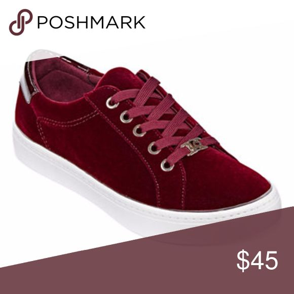 NEW Liz Claiborne Burgundy Velvet Sneakers 7.5 NEW in the box,  Liz Claiborne Burgundy Velvet Sneakers 7.5 gorgeous deep jewel tone perfect for Fall & Winter even holiday parties. Would make a great gift Liz Claiborne Shoes Sneakers