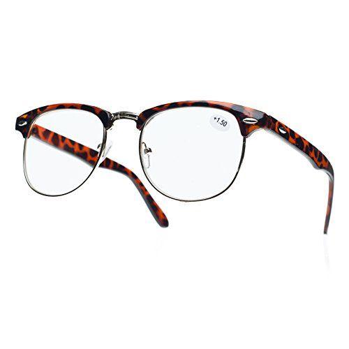 NEW UNISEX (Damen Herren) Retro braun Lesebrille Brille WAYFARER Clubmaster Shades Morefaz(TM) (Lesebrille + 1.5 retro braun)